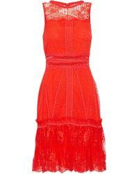 Jonathan Simkhai - Ruffle-trimmed Lace Mini Dress - Lyst