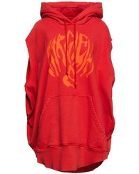 MM6 by Maison Martin Margiela Oversized Printed French Cotton-terry Hoodie - Red