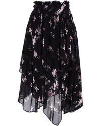 Preen Line Sumin Asymmetric Floral-print Crepe Skirt - Black