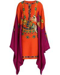 Moschino - Printed Crepe Dress - Lyst
