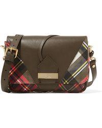Vivienne Westwood Anglomania - Tartan-paneled Leather Shoulder Bag - Lyst