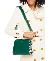 Serapian Villa Mini Smooth And Mosaico Leather Shoulder Bag - Green