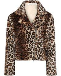 Rebecca Minkoff Hudson Leopard-print Faux Fur Jacket Animal Print - Multicolor