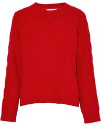Chinti & Parker - Cable-knit Merino Wool And Cashmere-blend Jumper - Lyst