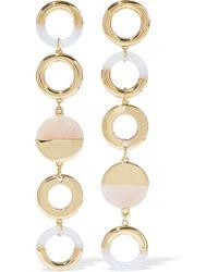 Noir Jewelry - Woman Steady Glow 14-karat Gold-plated Resin Earrings Gold - Lyst