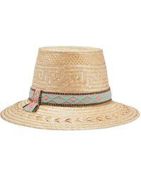 Yosuzi Lucy Woven Straw Hat - Natural