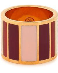 Tory Burch - Geo Gold-tone Resin Ring - Lyst