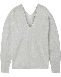 Vince Cashmere And Linen-blend Jumper Light Grey