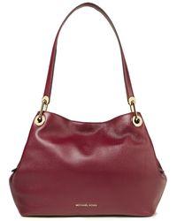 MICHAEL Michael Kors Raven Textured-leather Shoulder Bag Merlot