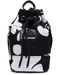 Marc Jacobs Logo-appliquéd Floral-print Twill Shoulder Bag Black