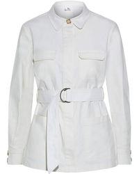 Iris & Ink Elena Belted Cotton-blend Drill Jacket - Natural