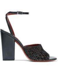 Missoni - Metallic Crochet-knit Sandals - Lyst