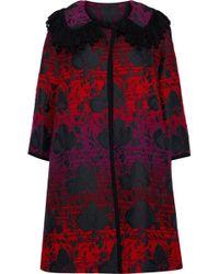 Anna Sui Floral-jacquard Jacket Multicolour - Red