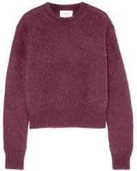 Bassike Mohair And Wool-blend Sweater - Purple