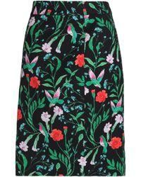 Kate Spade Floral-print Cotton-blend Jacquard Skirt - Black