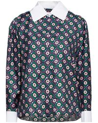 Sandro Bedruckte bluse aus seiden-twill - Lila