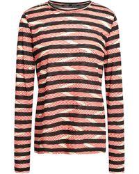 Proenza Schouler Printed Slub Cotton-jersey Top - Black