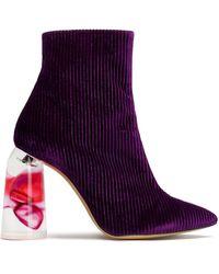 Ellery Contrast-heel Boots - Purple