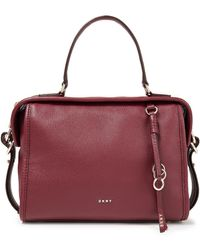 DKNY Pebbled-leather Tote - Multicolour