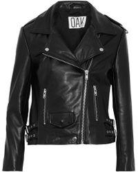 OAK - Ny Rider Leather Biker Jacket - Lyst