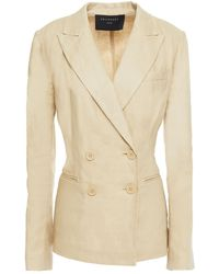 Equipment Double-breasted Linen-twill Blazer - Natural