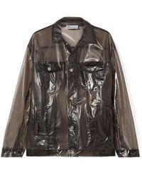 RED Valentino Glossed-pu Jacket Dark Grey