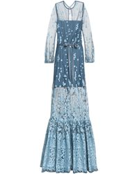 Alexis - Embroidered Tulle Gown - Lyst