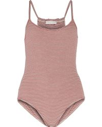 Kain - Marielle Ribbed Stretch-modal Bodysuit - Lyst