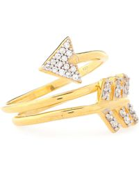Aamaya By Priyanka - Gold-tone Crystal Ring - Lyst
