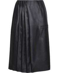 Marco De Vincenzo - Pleated Satin Skirt - Lyst