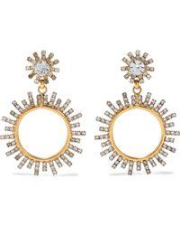Elizabeth Cole Everly Hematite-plated Crystal Earrings Gold - Metallic
