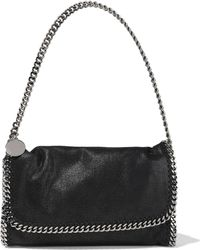 Stella McCartney Falabella Faux Brushed-leather Shoulder Bag Black