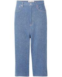 Junya Watanabe Cropped Jeans Light Denim - Blue