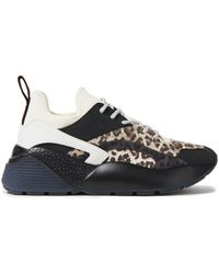 Stella McCartney Leopard-print Neoprene And Faux Suede Trainers Animal Print - Multicolour