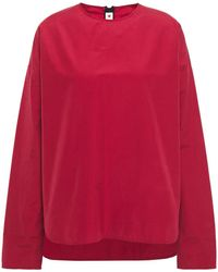 Marni Cotton-sateen Top Claret - Red