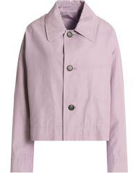 Marni - Cropped Cotton-blend Gabardine Jacket - Lyst