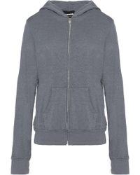 Monrow - Knitted Hooded Jacket Dark Grey - Lyst
