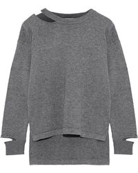 LNA - Perry Cutout Merino Wool And Cotton-blend Sweater - Lyst