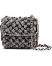 M Missoni Metallic Crochet-knit Shoulder Bag Brass - Multicolor