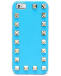 Valentino Garavani Rockstud Leather Iphone 5/5s/se Cover Azure - Blue
