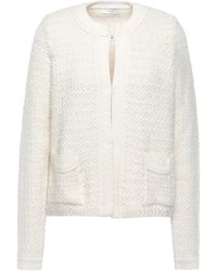 Sandro Tweed Jacket Off-white
