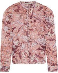 Ulla Johnson - Cassia Printed Fil Coupé Silk And Lurex-blend Blouse - Lyst