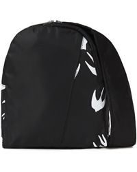 McQ Printed Shell Backpack Black