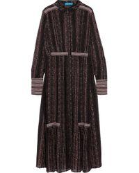 M.i.h Jeans - Brigitte Printed Silk-georgette Dress - Lyst