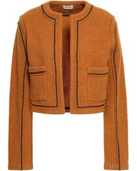 By Malene Birger Boiled Wool And Cotton-blend Jacket Camel - Multicolour
