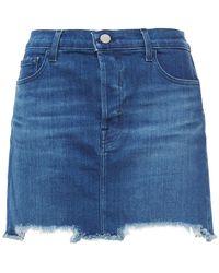J Brand Denim Mini Skirt - Blue