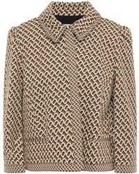Diane von Furstenberg Sansa Cropped Jacquard-knit Jacket - Brown
