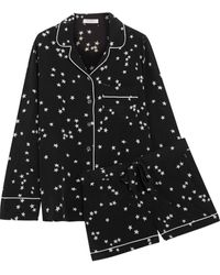 Equipment Lillian Washed-silk Pyjama Set Black