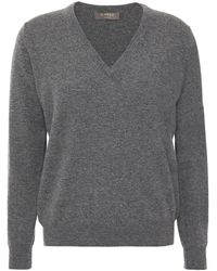 N.Peal Cashmere Mélange Cashmere Sweater - Gray