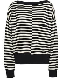 Equipment Bedelle Panelled Striped Knitted Jumper Black